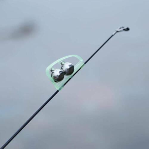 5Pcs Night Fishing Rod Tip Fish Bite Alarm Alert Clip Bells Ring Glow Accessory