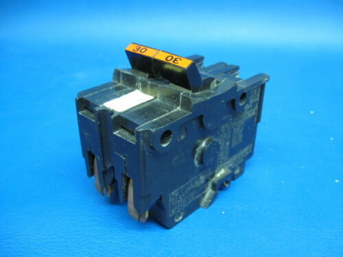 """30A Federal Pacific 30 Amp 2 Pole or Double Pole 2/"""" Wide Type NA Breaker"""