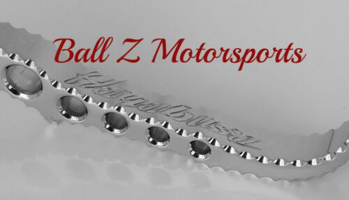 99-07-08-17 Hayabusa Chrome Hole Shot Ball Cut Engraved Short Lowered Kickstand