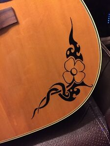 Floral-Tribal-Guitar-Body-Vinyl-Decal-For-Any-Guitars-Ukuleles