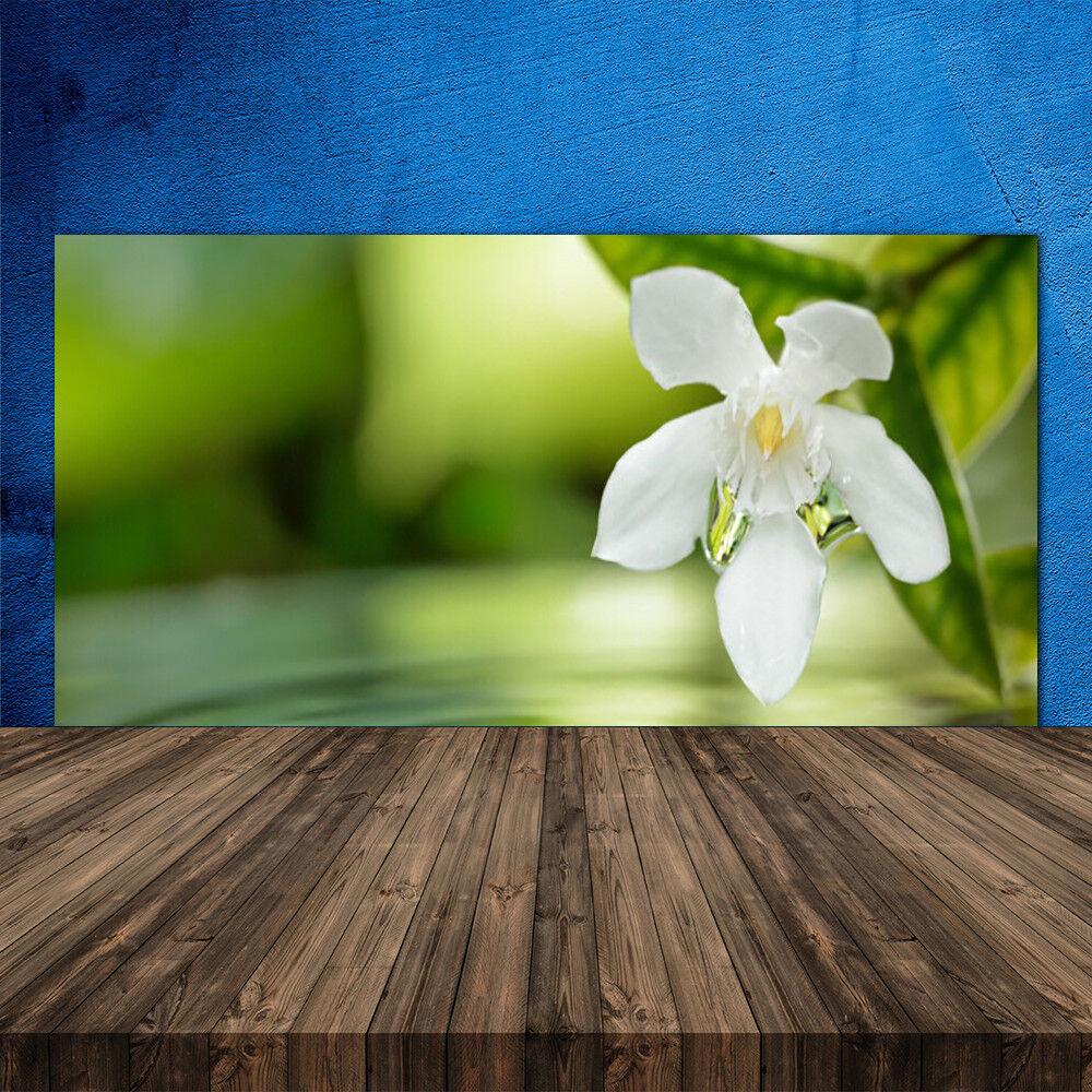 Crédence de cuisine en verre Panneau 120x60 Floral Fleurs Feuilles