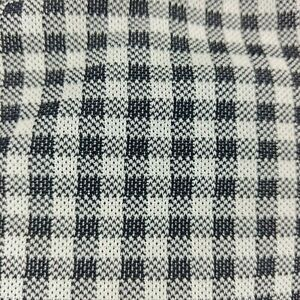 Vtg-Double-Knit-Polyester-Fabric-1-6-yd-x-36-in-Black-White-Plaid-Checker