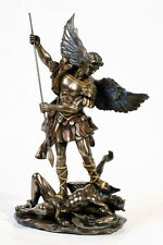 Saint St. Michael Archangel with Spear Defeated Lucifer Statue Figurine Decor