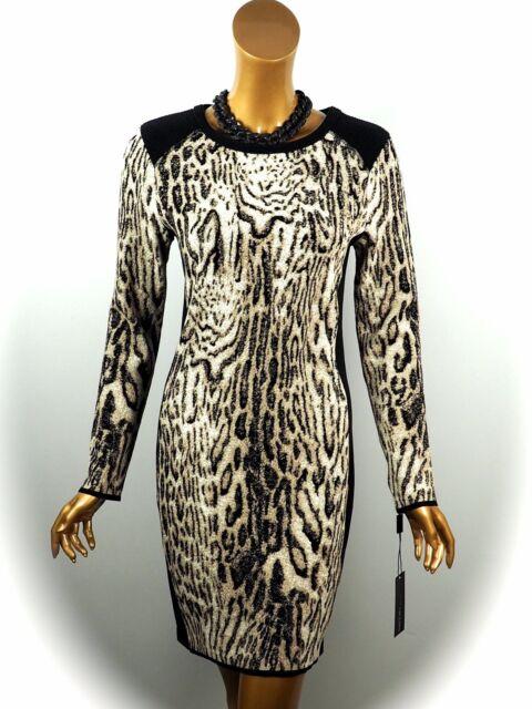 MARCCAIN SPORTS Robe Tricot ~ Animal n3/38 n4/40 n5/42 n6/44 ~ Neuf ~