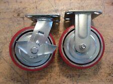 6 Caster Wheels Heavy Duty Factory Industrial Caster Cart Wheel Locking Swivel