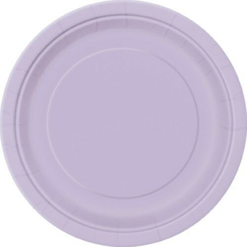 "17cm 20 x 7/"" ROUND Paper PLATES Plain Solid Colours Birthday Party Tableware"