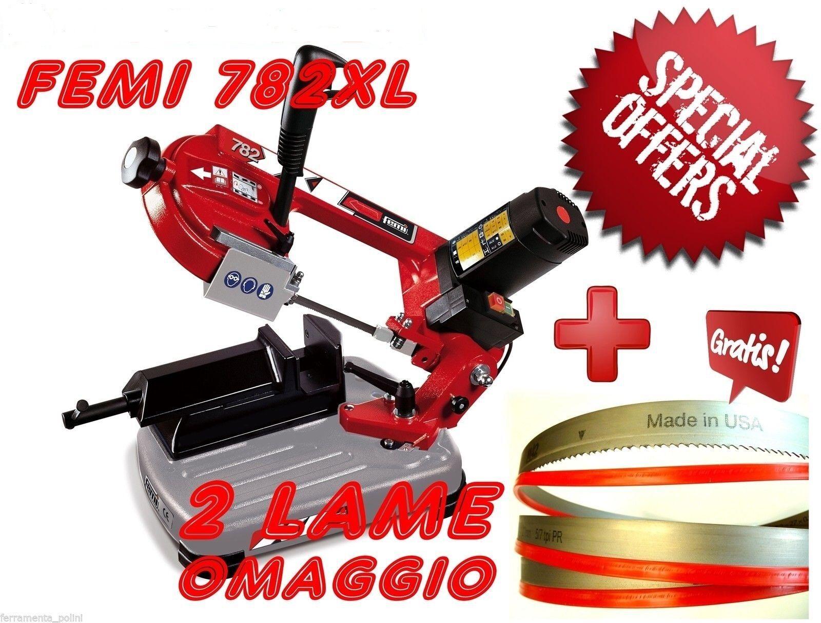 Segatrice Per Ferro A Nastro Femi 782 XL Taglio 105mm 950w + 2 Lame Omaggio