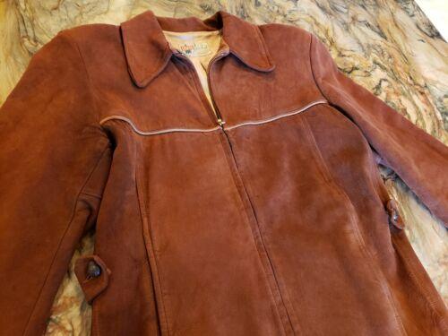 Vtg Levi Suede Leather Zipper Jacket Coat Deadstoc
