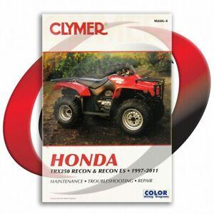 2002-2011-Honda-TRX250-Recon-ES-Repair-Manual-Clymer-M446-4-Service-Shop-Garage