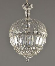 Crystal Le Pomme Czech Pendant c1930 Vintage Antique Glass Ceiling Pendant Light