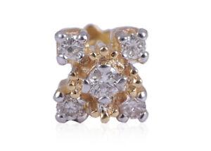 0-14-Cts-Runde-Brilliant-Cut-Natuerliche-Diamanten-Nasenstecker-In-750-18K-Gold