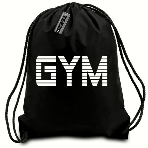 Black /& White GYM drawstring bag,Gaming,swimming bag,water resistant