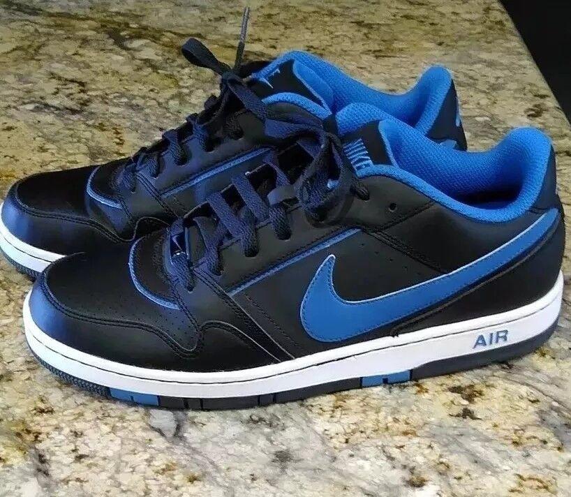 Men's NIKE AIR PRESTIGE III SI Black/Blue Basketball Shoes Price reduction 386114-041
