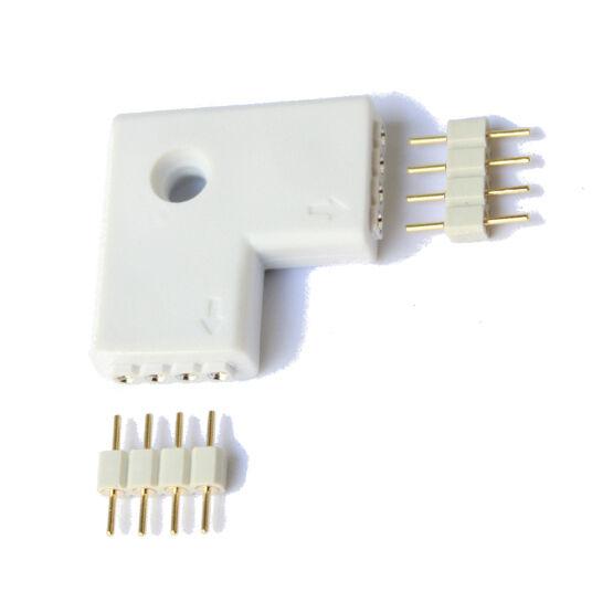 Conector en L para tiras led RGB sin soldadura 5050 3528 unión Tira