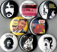 Frank Zappa 8 Pins Buttons Badges Mothers Hot Rats