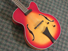 Hofner Contemporary Series HCT-J17 Archtop Hollowbody Guitar! Sunburst! RARE!