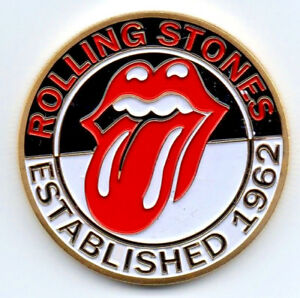 Rolling Stones Gold Coin Pop Music 1962 60s Retro London Band Logo Silver Train