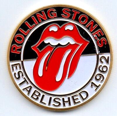 Rolling Stones Gold Coin Pop Music 1962 60s Retro London Band Logo Silver  Train   eBay