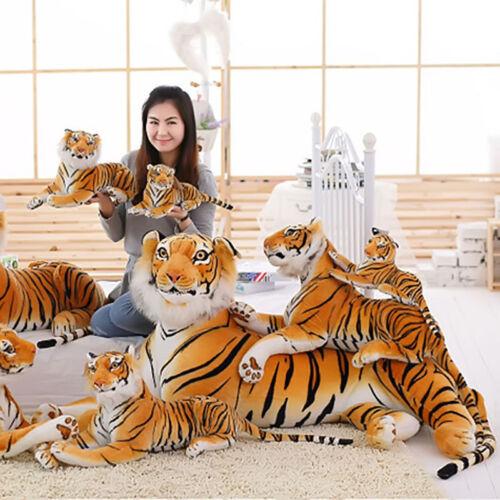 Lifelike Tiger Plush Toy Simulation Tiger Kid Gifts Doll Home Photo Studio Decor