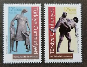 [SJ] Turkey - New Zealand Joint Issue Memorial Statues 1998 (stamp) MNH