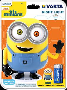 Varta Minions Nachtlicht Bob einschl. 4er Pack Rocket HD Premium-Alkaline