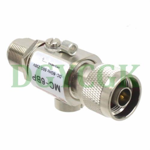 Lightning Arrestor N male plug to N female jack 0-6GHZ 230V 50Ω MC-6BP Coaxial