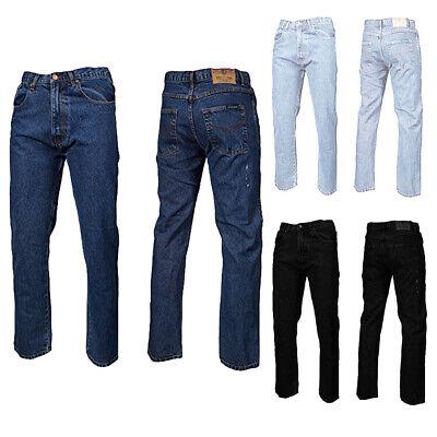 MENS TOUGH BASIC AZTEC REGULAR FIT JEANS ALL WAIST AND LEG BIG WAIST 30-48