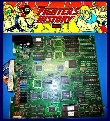 Arcade,Coin, Amusement, Data East, Fighters History, PCB, JAMMA