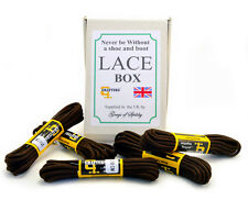 """Grafters Shoes & Boots Laces 5 Brown Heavy Duty in a 5 Pair BoxSet 210cm 82"""""""