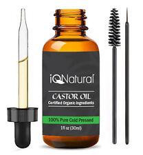 Grow Longer Thicker Eyelash & Eye Brow Growth Serum Certified Organic Castor Oil