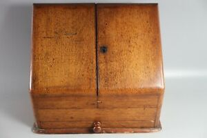 ANTIQUE-OAK-DESK-TOP-STATIONARY-CABINET-DESK-TIDY-LETTER-RACK-WRITING-BOX