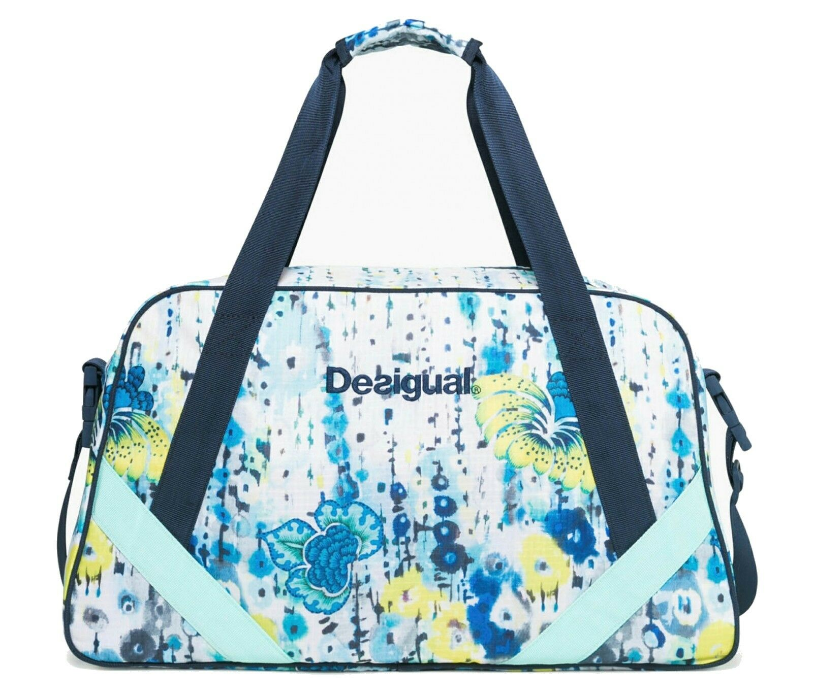 Desigual Luminescent Carry Bag Shoulder Bag Carry Blanco b04439