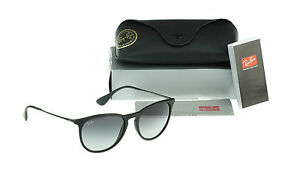 NEW-Genuine-Ray-Ban-ERIKA-Matte-Black-Round-Men-Women-Sunglasses-RB-4171-622-8G