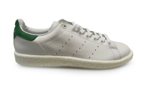Unisexe Adidas Stan Smith-BB0008-Blanc Vert Baskets