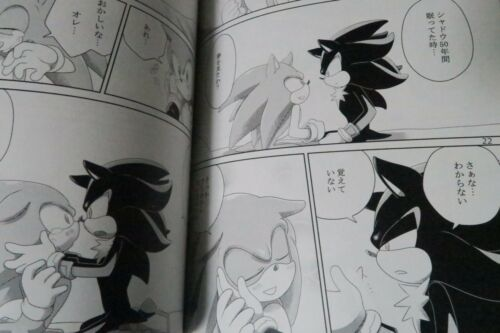 B5 72pages SONIC THE HEDGEHOG Doujinshi Shadow X Sonic LOVE Muy/_Muy