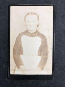 Victorian-Carte-De-Visite-CDV-Young-Girl-Maid-Apron