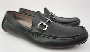 Salvatore Ferragamo Barlett Black Gancio Bit Driver Loafer Shoe Size 7 E
