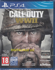 Call-of-Duty-WWII-PS4-PlayStation-4-Brand-New-Factory-Sealed-COD-World-War-2