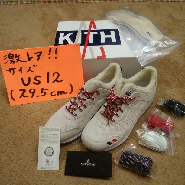 best website 96a9f 90ae9 Moncler ~ kith ~ asics rare size Moncler from japan (6405