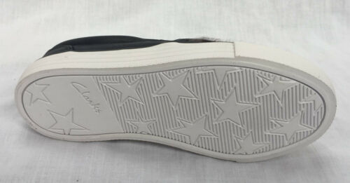 BNIB Clarks Girls Brill Page Animal Print Leather Trainers F//G Fitting