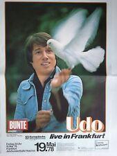 UDO JÜRGENS  1978  FRANKFURT - orig.Concert Poster  --  Konzert Plakat  A1 NEU
