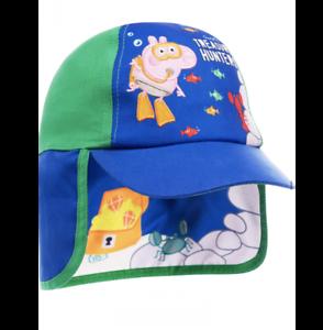 Peppa Pig Boys Blue George Treasure Hunters Legionnaire Sun Hat Age 1//3 Years