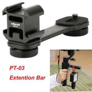 PT-3-Microphone-Extension-Bar-3-Cold-Shoe-Mounts-Bracket-for-DSLR-Zhiyun-Canon