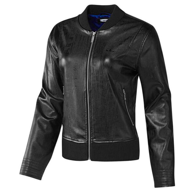 e6a770065fe4 adidas Originals EF Faux Leather Jacket Womens UK 12 EUR 38 for sale ...