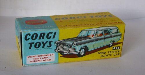 Repro Box Corgi Nr.424 Ford Zephyr Estate Car