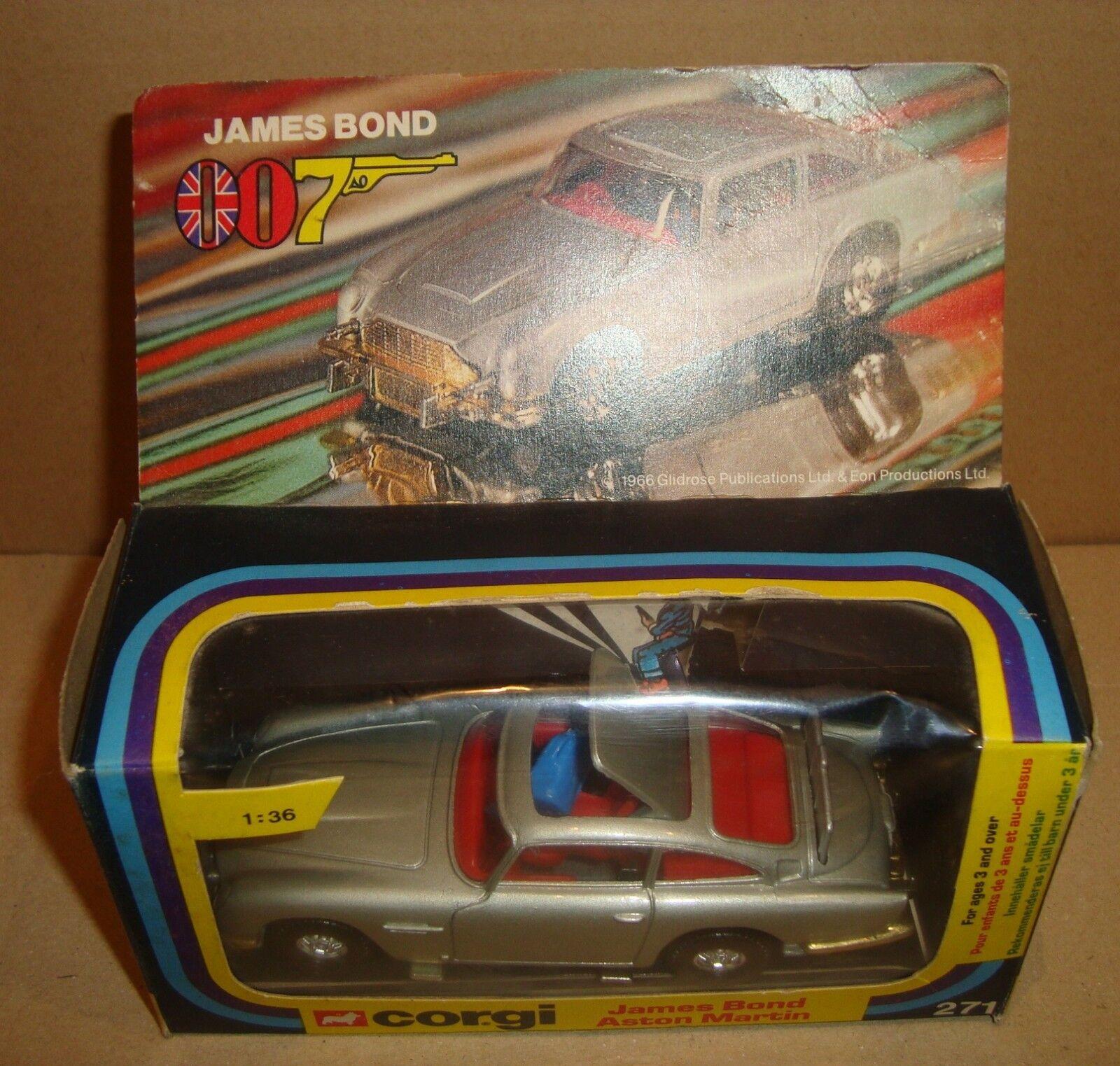 CORGI 271 JAMES BOND 007 ASTON MARTIN SCALE 1 36 METTOY UK 1977