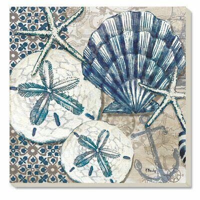 Tide Pool Shells Counter Art Tumbled Tile Coasters Set of 4