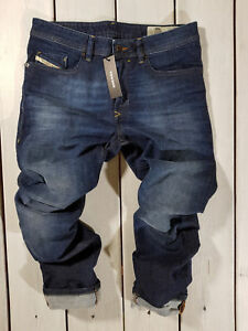 Rrp-176-Nuovo-Jeans-Diesel-Uomo-Buster-R81Q3-Regular-Slim-Tapered-Stretch