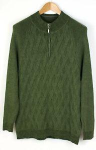 Tommy Bahama Herren Reißverschluss Pullover Strickjacke Größe L AGZ518