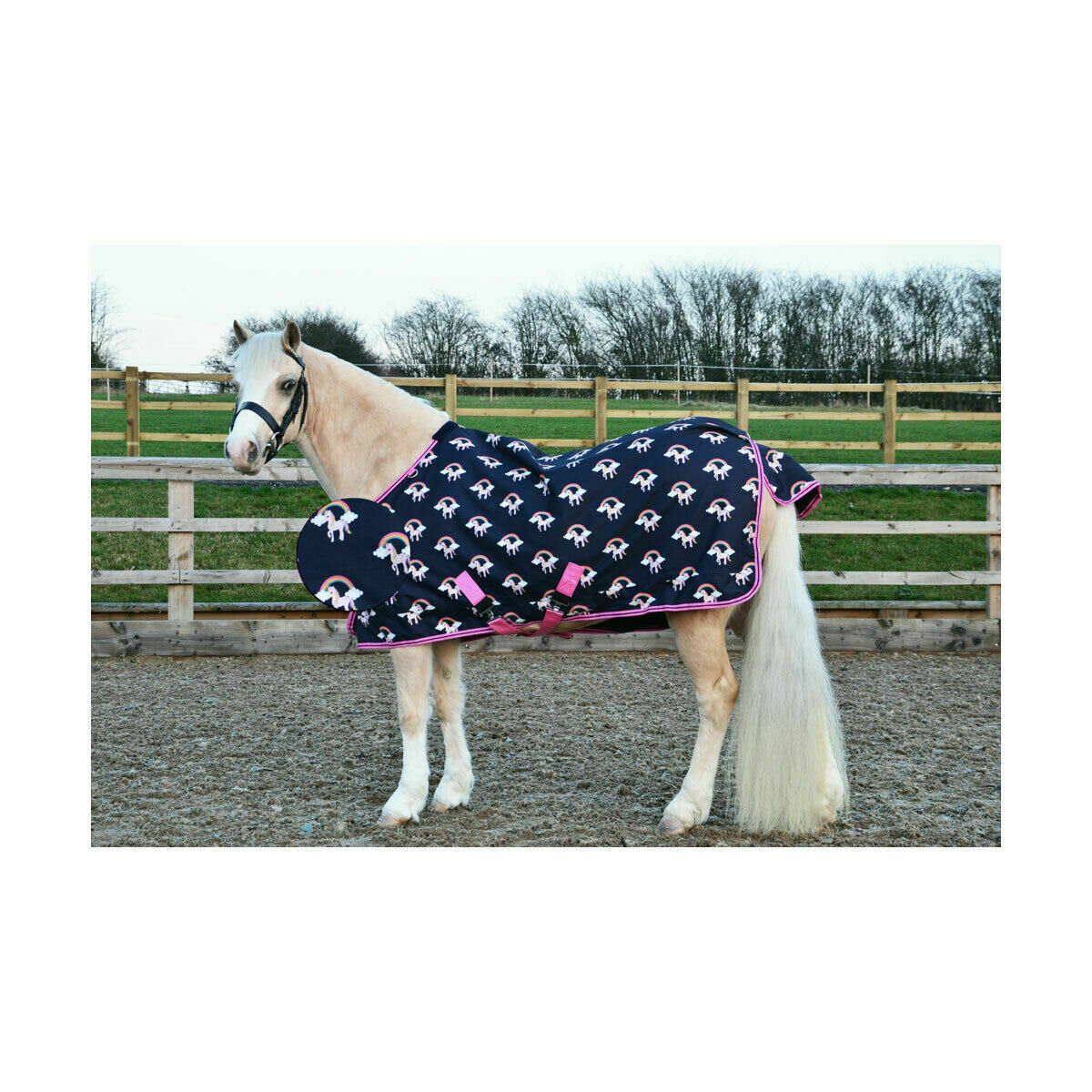 Hy Flamingo and Unicorn Lite weight turnout rugs, variety of sizes, UK seller